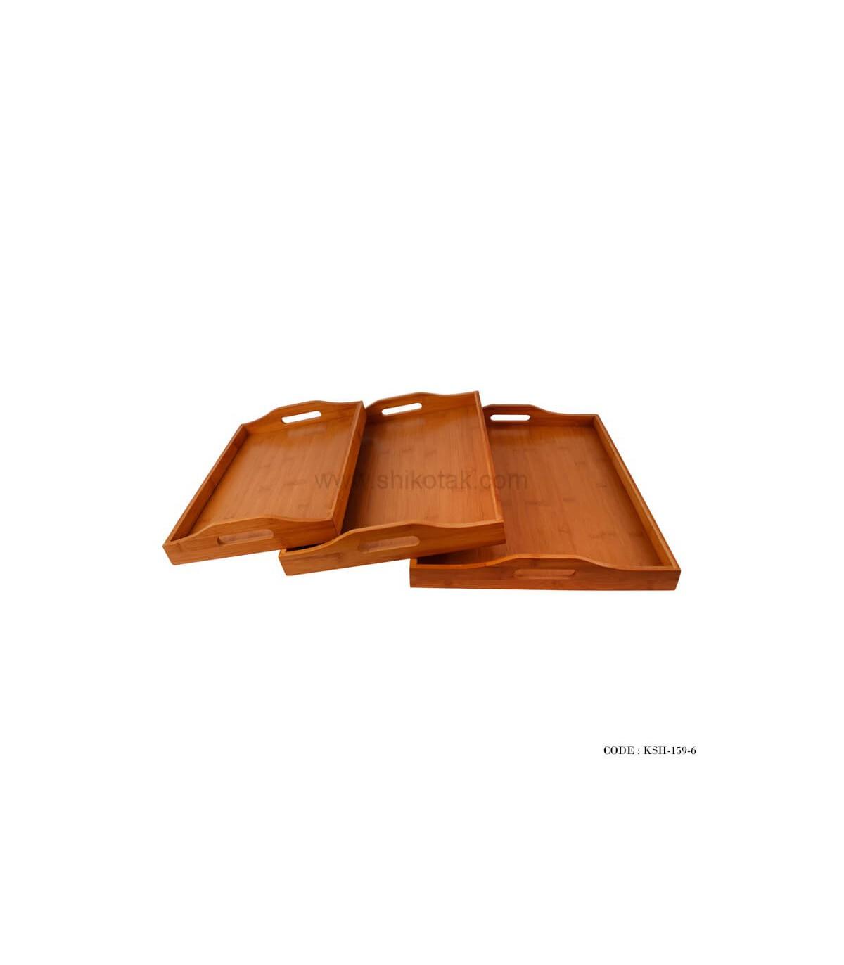 سینی پذیرایی بامبو سه تایی