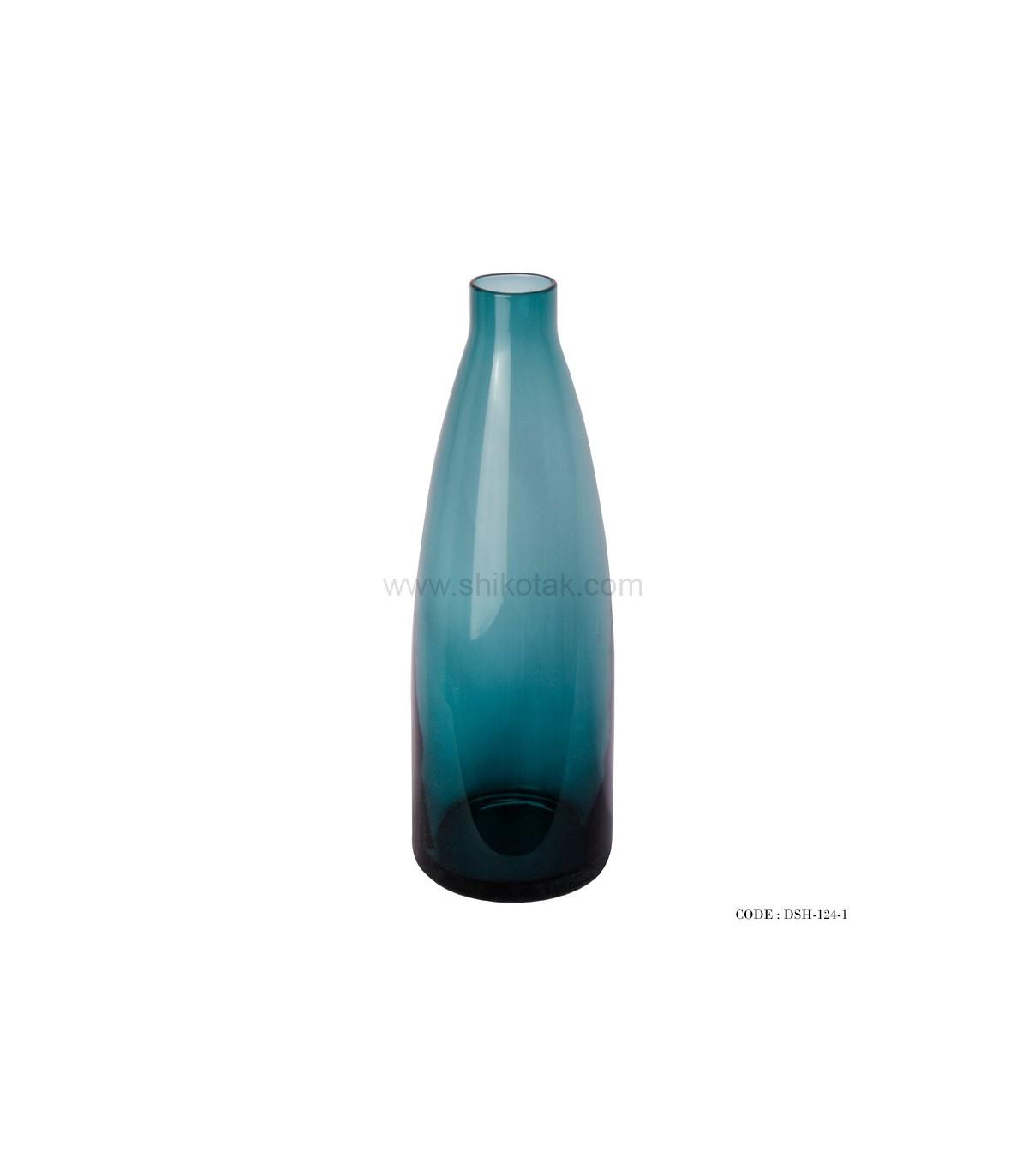 خرید انلاین گلدان شیشه ای آبی رنگ