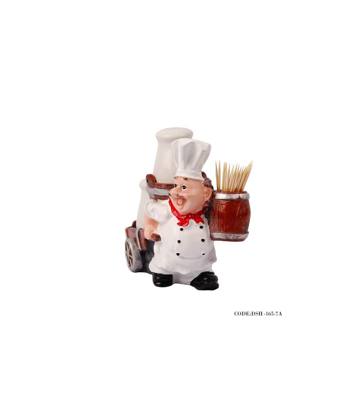 مجسمه نمک پاش و جاخلالی آشپز