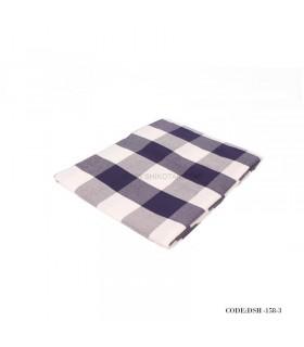 رومیزی پارچه ای طرح چهارخونه آبی و سفید