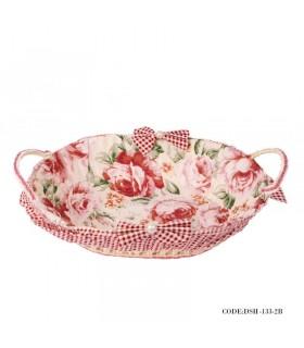 خرید سبد سبزی حصیری گلدار سری 2-133