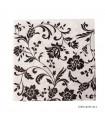 دستمال سفره کاغذی طرح گل های مشکی