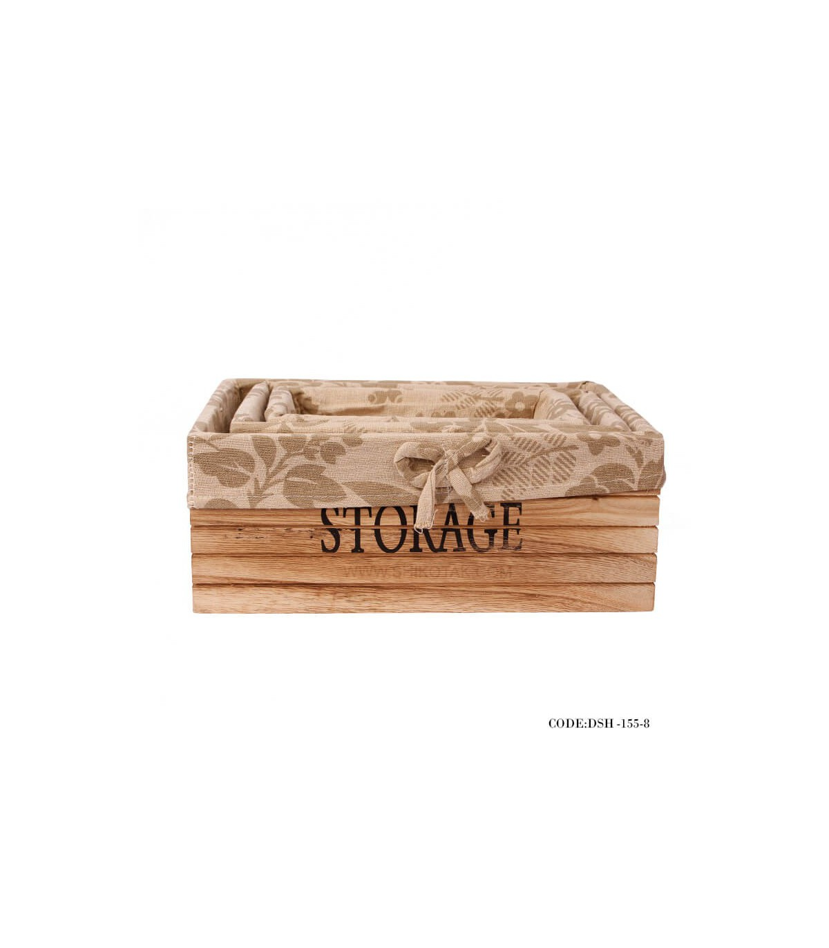 مدل باکس چوبی نظم دهنده کمد سه سایز